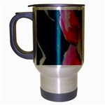Flamingo Print Travel Mug (Silver Gray)