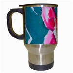 Flamingo Print Travel Mug (White)