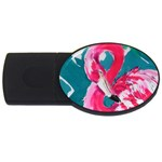 Flamingo Print USB Flash Drive Oval (4 GB)