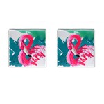 Flamingo Print Cufflinks (Square)