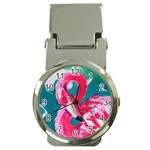 Flamingo Print Money Clip Watch
