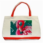 Flamingo Print Classic Tote Bag (Red)