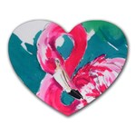 Flamingo Print Mousepad (Heart)