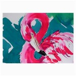 Flamingo Print Glasses Cloth (Large, Two Sides)