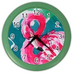 Flamingo Print Color Wall Clock