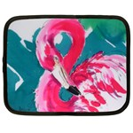 Flamingo Print Netbook Case (Large)