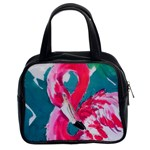 Flamingo Print Classic Handbag (Two Sides)