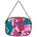 Flamingo Print Chain Purse (One Side)