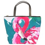 Flamingo Print Bucket Bag