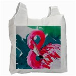 Flamingo Print Recycle Bag (One Side)
