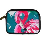 Flamingo Print Digital Camera Leather Case