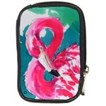 Flamingo Print Compact Camera Leather Case