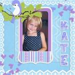 Katie Bird - ScrapBook Page 8  x 8