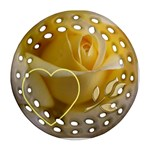 Yellow Rose gift Tag Ornament - Ornament (Round Filigree)