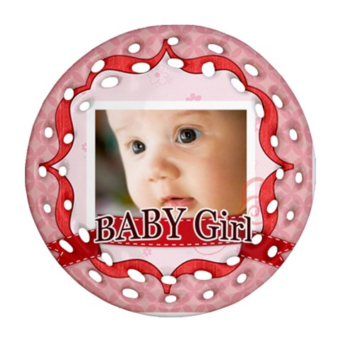 Baby By Joely   Ornament (round Filigree)   C2plw0eqjzuh   Www Artscow Com Front