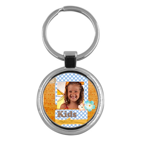 Happy Kids By Joely   Key Chain (round)   G8ivwrwbpbe7   Www Artscow Com Front