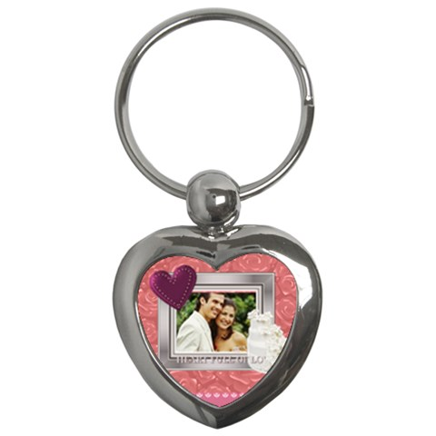 Wedding By Joely   Key Chain (heart)   J1w0c0ap0ztd   Www Artscow Com Front