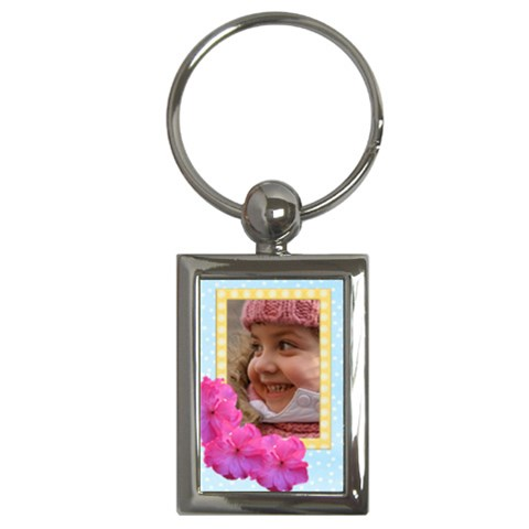 My Little Flower Key Chain By Deborah   Key Chain (rectangle)   Xck4j194u2or   Www Artscow Com Front