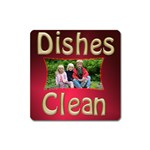 Dishes Clean square magnet - Magnet (Square)