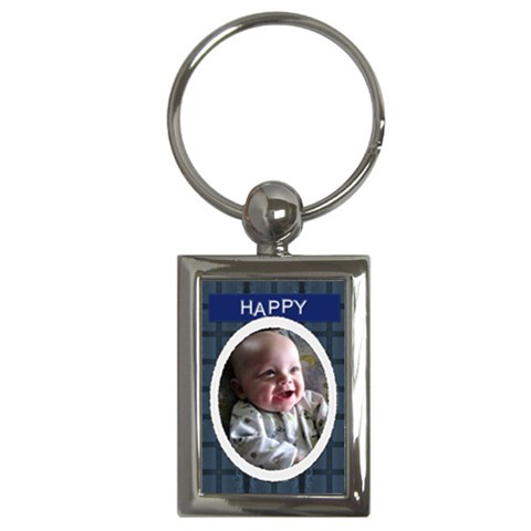 Happy Rectangle Key Chain By Lil    Key Chain (rectangle)   N4no4h98oqp0   Www Artscow Com Front