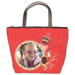 Sock Monkey Love Bucket Bag 1