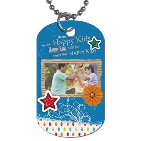 Happy Kids By Joely   Dog Tag (one Side)   2uxjjherlznd   Www Artscow Com Front