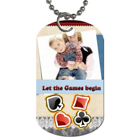 Kids By Joely   Dog Tag (one Side)   Jde8rqw6vrth   Www Artscow Com Front