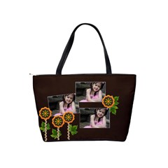 Shoulder Handbag  Flower Power By Jennyl   Classic Shoulder Handbag   S4t3566britl   Www Artscow Com Back
