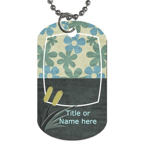 Lets Get Beachy Cattail Tag By Bitsoscrap   Dog Tag (one Side)   Q90lz1wqlg3i   Www Artscow Com Front