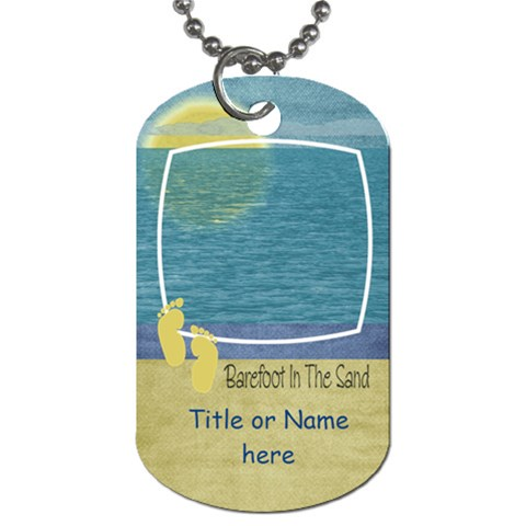 Lets Get Beachy Barefoot Tag By Bitsoscrap   Dog Tag (one Side)   I2eejj0yhn36   Www Artscow Com Front