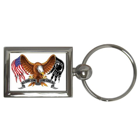 Some Gave All Rectangle Keychain By Debra Macv   Key Chain (rectangle)   Dniumn5srj98   Www Artscow Com Front