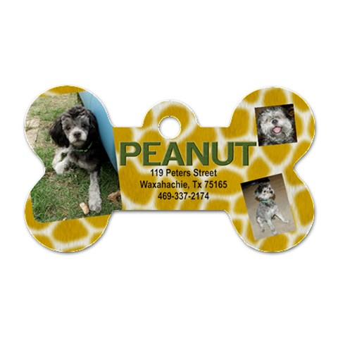 Peanut Dog Tag by april Front