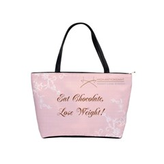 Healthy Chocolate Lge Pink Bag By Lynette Henk   Classic Shoulder Handbag   Fnd6su5927mh   Www Artscow Com Front