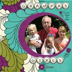 Grampas Girls - ScrapBook Page 8  x 8