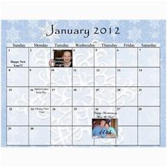 Stoddard Family Calendar By Natalie   Wall Calendar 11  X 8 5  (12 Months)   9vqyhfhhxhov   Www Artscow Com Jan 2012