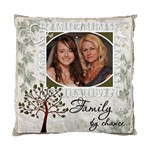 Family by Chance, Friends by Choice 2-Sided Cushion Case - Cushion Case (Two Sides)