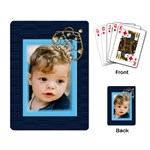 Navy Playing Card - Playing Cards Single Design