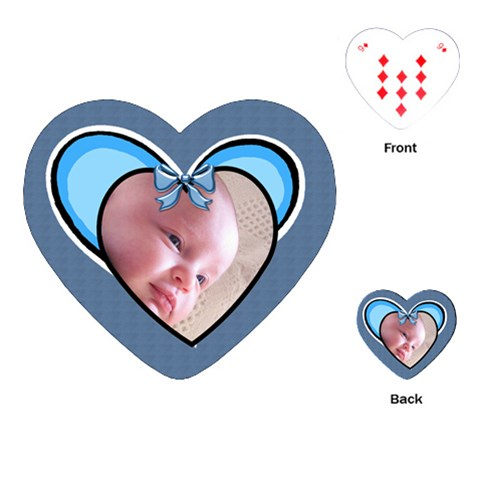 Love My Boy Playing Cards By Deborah   Playing Cards (heart)   Rh2wwacsliya   Www Artscow Com Front