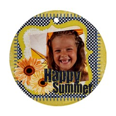 Summer By Joely   Round Ornament (two Sides)   Z2ref07oyz1e   Www Artscow Com Front