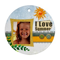 Summer By Joely   Round Ornament (two Sides)   Z2ref07oyz1e   Www Artscow Com Back