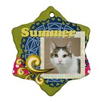 summer - Ornament (Snowflake)