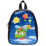 Helicopter Pilot Small Schoolbag Backpack for Dianne - School Bag (Small)