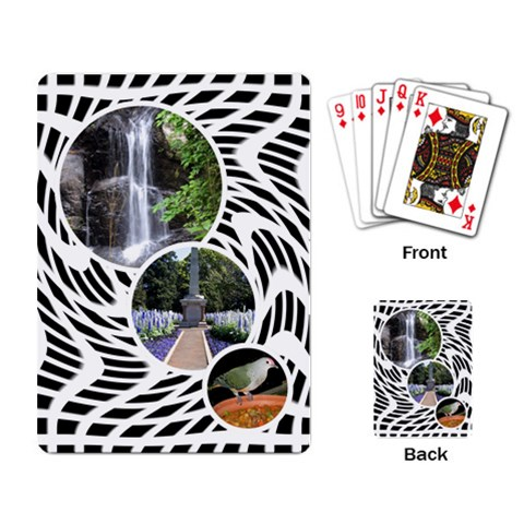 Our Vacation Playing Cards By Deborah   Playing Cards Single Design   Sxkz4bchm28x   Www Artscow Com Back