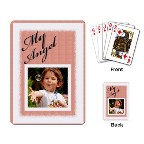 My Angel Playing Card By Deborah   Playing Cards Single Design   Talo0le2c23k   Www Artscow Com Back