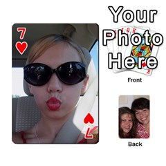 Laura And Bill   Finished By Edie Zilio   Playing Cards 54 Designs   Smervpv44b9m   Www Artscow Com Front - Heart7