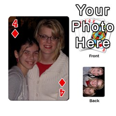 Aunt Jen Final By Edie Zilio   Playing Cards 54 Designs   Lsf380r7ufbb   Www Artscow Com Front - Diamond4