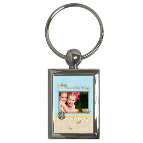 Kids By Joely   Key Chain (rectangle)   R8bm19ty39ya   Www Artscow Com Front