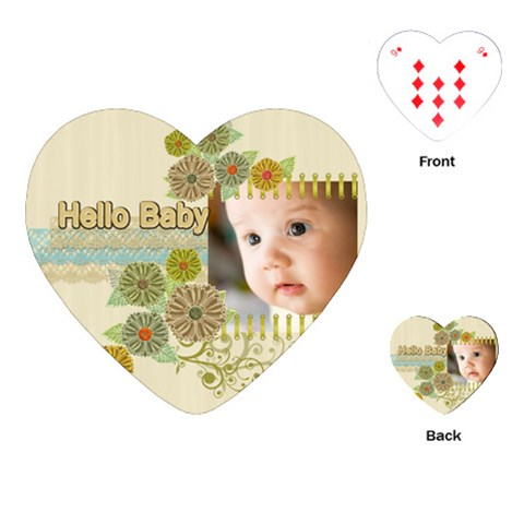 Baby By Joely   Playing Cards (heart)   7kqgbgy6ikam   Www Artscow Com Front