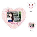 flower world - Playing Cards (Heart)