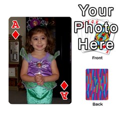 Ace Photo Playing Cards By Lou Fazio   Playing Cards 54 Designs   Sfa42x0eei98   Www Artscow Com Front - DiamondA